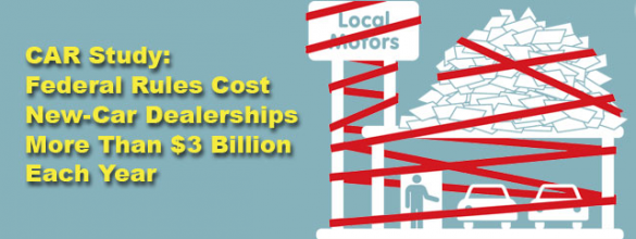 The Price of Regulations: $3.2 Billion for Auto Dealers