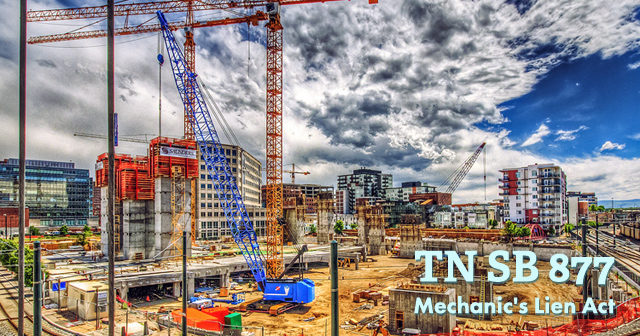 Tennessee Contractors Affected by Mechanic's Lien Law Changes