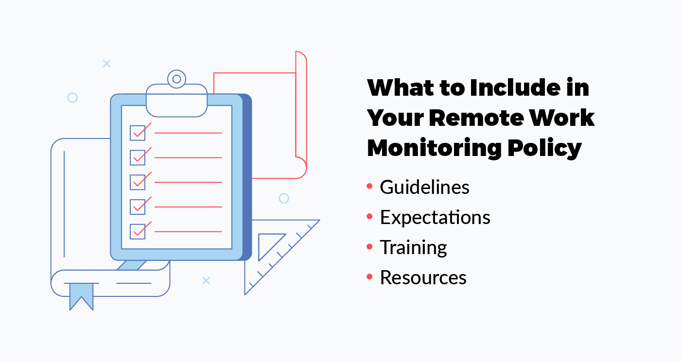 what to include in your remote work monitoring policy