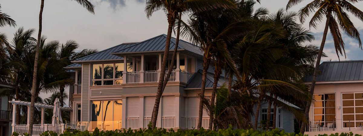 Florida home on a stormy day
